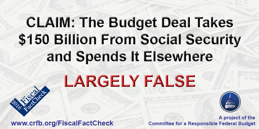 Does The Budget Deal Take 150 Billion From Social